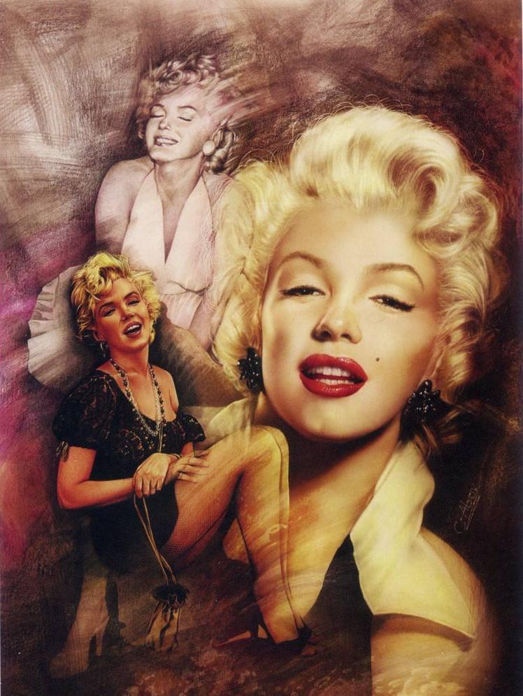 Marilyn Monroe Home Decor Handpainted HD Печать Маслом живописи на холсте Настенное искусство Холст Фотографии 004