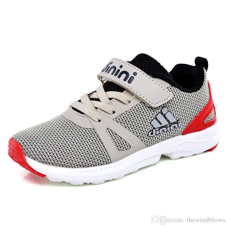 Yeni Çocuk Unisex Ayakkabı Koşu Nefes Spor Çocuklar Giyilebilir Koşu Erkek Kız Ayakkabı Kaymaz Ayakkabı Sneakers Çocuklar