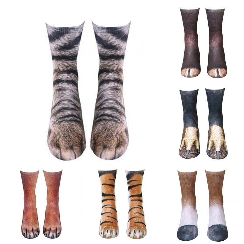 Pamuk Çorap Kadınlar Komik Baskı Hayvan Çorap Kawaii Sevimli Casual Mutlu Moda Yüksek Bilek İçin Erkekler Kadınlar 5ZJQ26