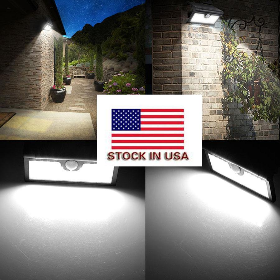 2020 5.5V 3W solaire lumières mouvement jardin 42LED capteur de lumière solaire étanche IP65 panneau solaire LED extérieur éclairage télécommande
