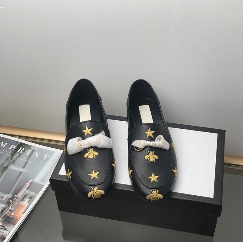 Luxusfreizeitschuhe Damen Marke Rutschen, Rauchen Pantoffeln, Mütze Schuhe, Leder Stern Mütze Schuhe, Mode Luxus-Schlitten