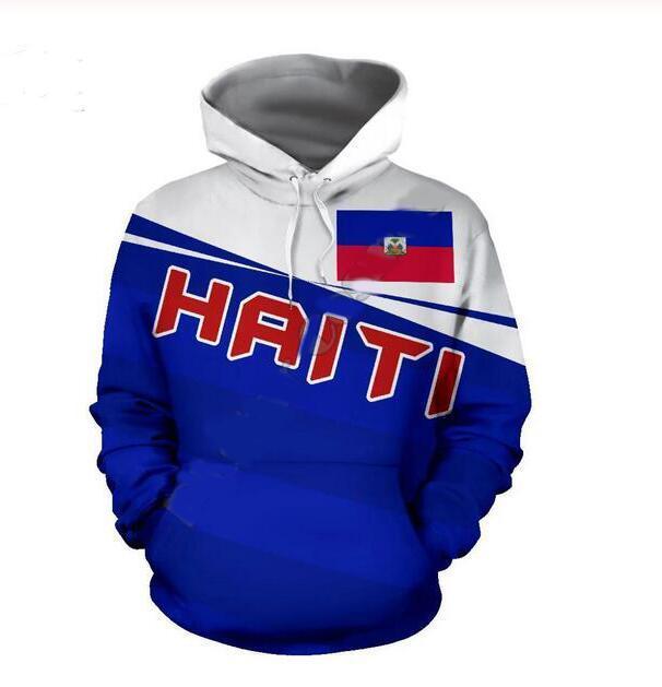 Gros-New Cool Fashion Sweat Hoodies 3D Imprimer des femmes des hommes Casual Haïti Mer des Caraïbes Style Hot Vêtements Streetwear XLR0126