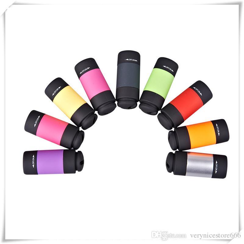 2019 Mini Flashlights Led Flashlight USB Torch Rechargeable Fashion Colorful LED Flashlight High Powered Keychain Lamp Key Chain Flashlights