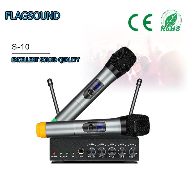 ev sinema sistemi bilgisayar hoparlör Smart TV Livestream için Yankı Bluetooth Mikrofonlu S-10 UHF BT Kablosuz Mikrofon