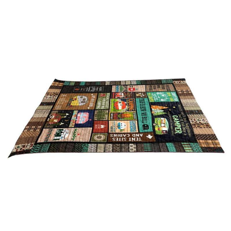 Camping Mat per famiglia coperta di lana Independence Day modello stampato Blanket 177,8 x 203,2 centimetri di campeggio esterna Mat