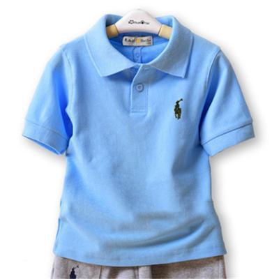 2020 Selling Brand summer kids designer clothes boys children lapel short sleeves polo t shirt boys tees brand baby girl clothes girls