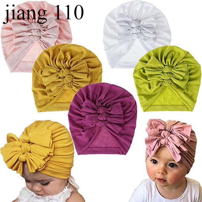 Toddler Infant Baby Soft Velvet Beanie Cap Hat Solid Color Bowknot Turban Hat