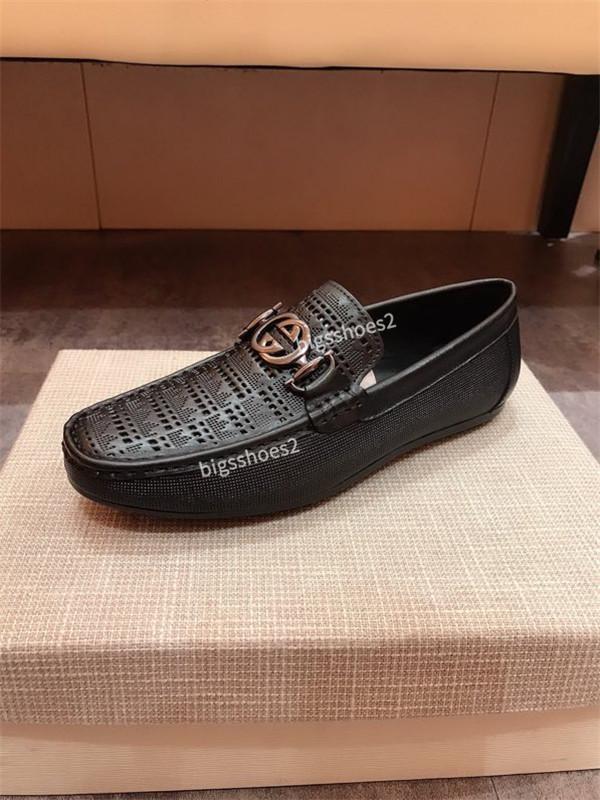Натуральная кожа человек Повседневная обувь Мода плоские мокасины итальянский стиль дизайнеры дышащий hy200610