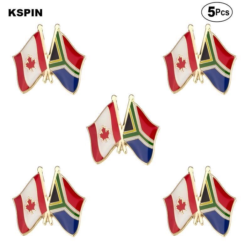 Canada Sud Africa Spille Pin del risvolto Flag spilla distintivo Pins Badge