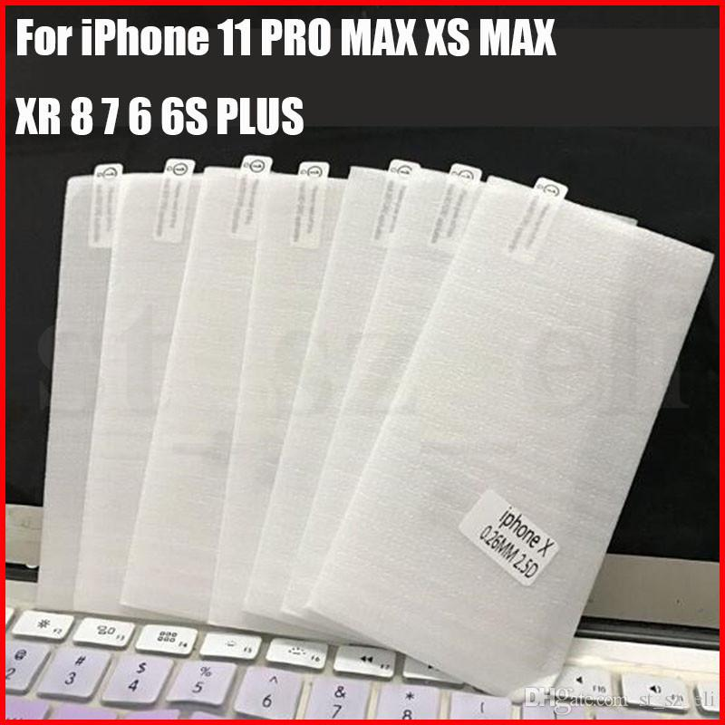 Skärmskydd för iPhone 11 Pro Max XS Max XR XS Härdat glas för Apple 8 7 6S plus