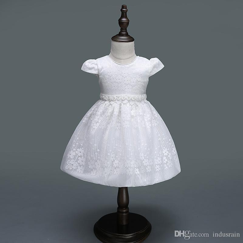 Compre 1 Año De Cumpleaños Vestidos De Niña Para El Bautismo Infantil Blanco Como La Nieve Princesa De Encaje Vestido De Bautizo Recién Nacido Bebes