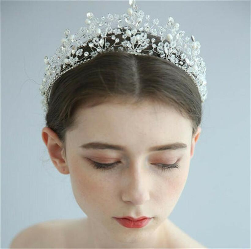 Vintage Wedding Bridal Crystal Rhinestone Headband Crown Tiara Hair Accessories
