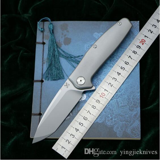 YX750 NUOVO coltello pieghevole Cuscinetto a sfere VG-10 lama Manico in titanio da campeggio caccia Coltelli da frutta tasca all'aperto Strumenti EDC