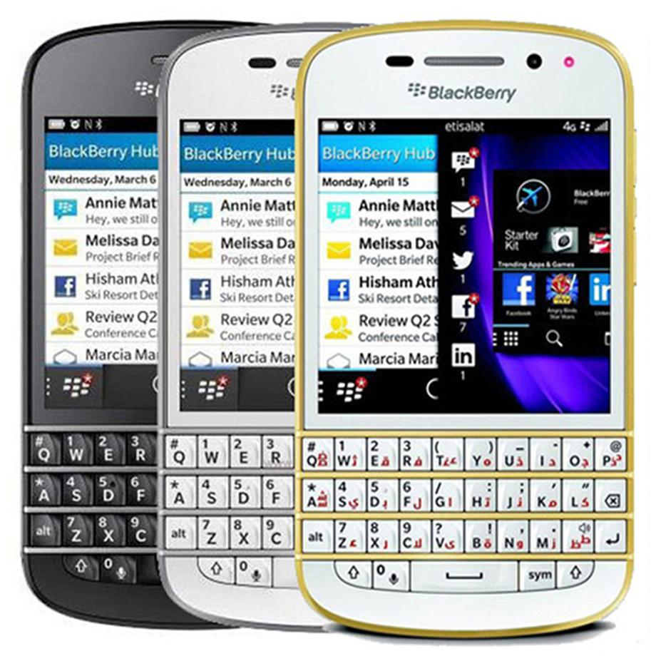 Original renovierter Blackberry Q10 3,1 Zoll Dual Core 1.5GHz 2 GB RAM 16 GB ROM 8.0mp Camera QWERTY Keyboard Unlocked Smart Mobiltelefon 10pc