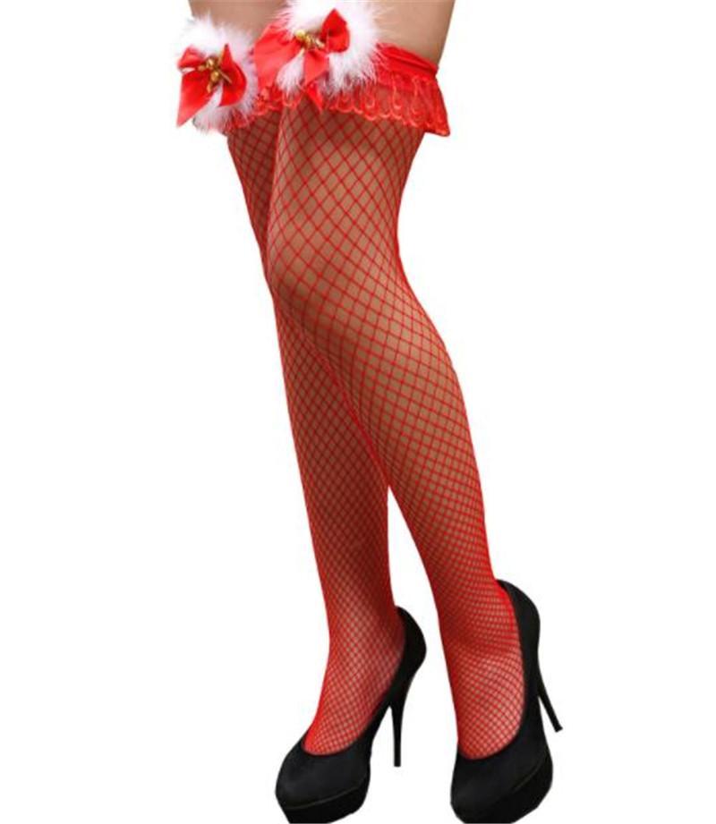 Noël Femmes Designer Bas Mode Bow Noël Femmes Sexy Silk Stockings Casual cosplay le jour de Noël