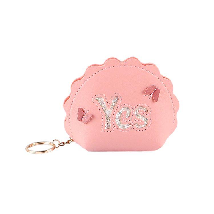 Mini bolso de la caja corta Monederos Letter Sí niñas cremallera monedero del bolsillo de las mujeres claves del dinero bolsas de dama monederos colgante mujer Monedero