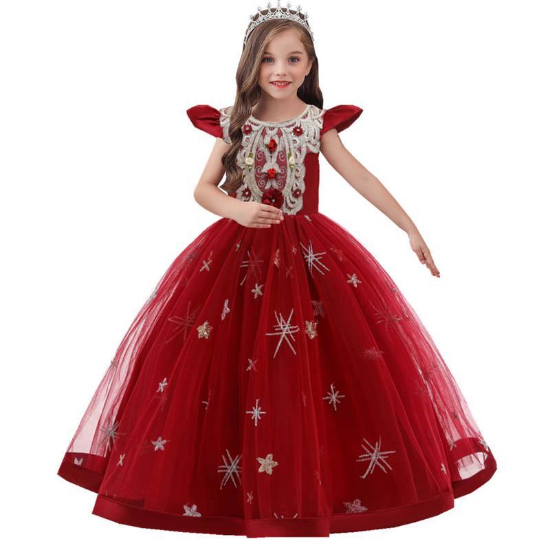 LISTHA Tutu Princess Dress Baby Girls Long Sleeve Solid Casual Toddler Cute Dress