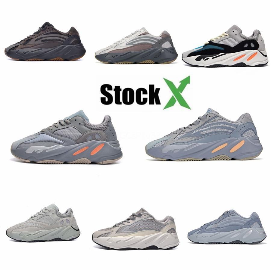Vanta 700 V2 Analog Static Inertia Solid Grey Mauve Kanye West Wave Runner Women Running Shoes Mens Trainers Sports Sneakers S01 #QA288