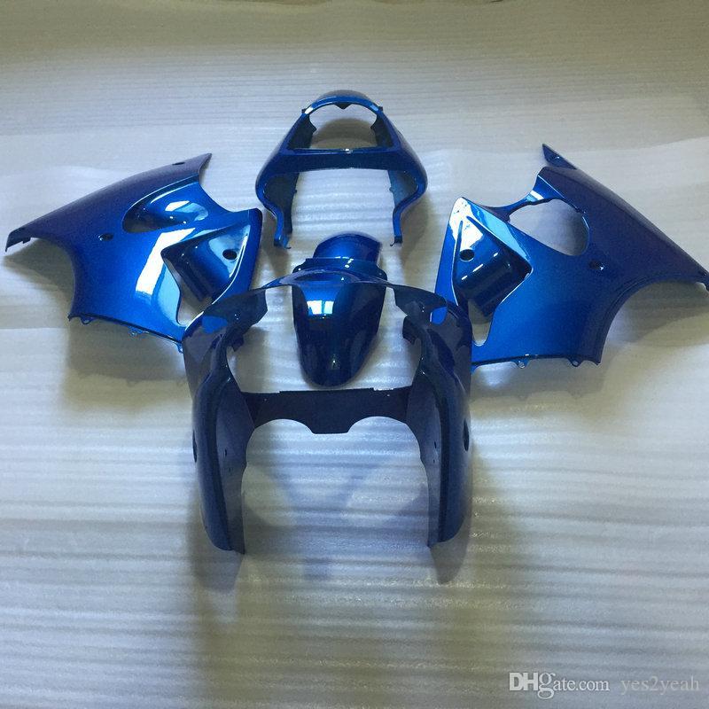 Carrocería de carenado IInjection para KAWASAKI Ninja ZZR600 05 06 07 08 ZZR600 2005 2008 ZZR 600 05 08 kit de cuerpo de carenados azul KZ74