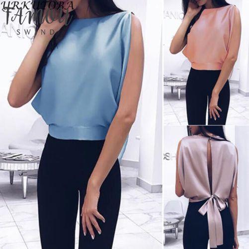 Damenmode heiße Sommer-Frauen Blusen-beiläufige Sleeveless Tank Top Weste Applikationen bowknot Pullover Spitze Hemd