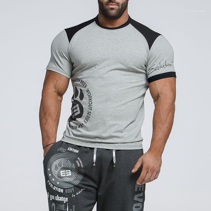 Hülsen-beiläufige Crew Neck T-Shirts Herren Kleidung Herren 2020 Designer-T-Shirts Buchstabe-Druck Mode-T-Shirts Kurz