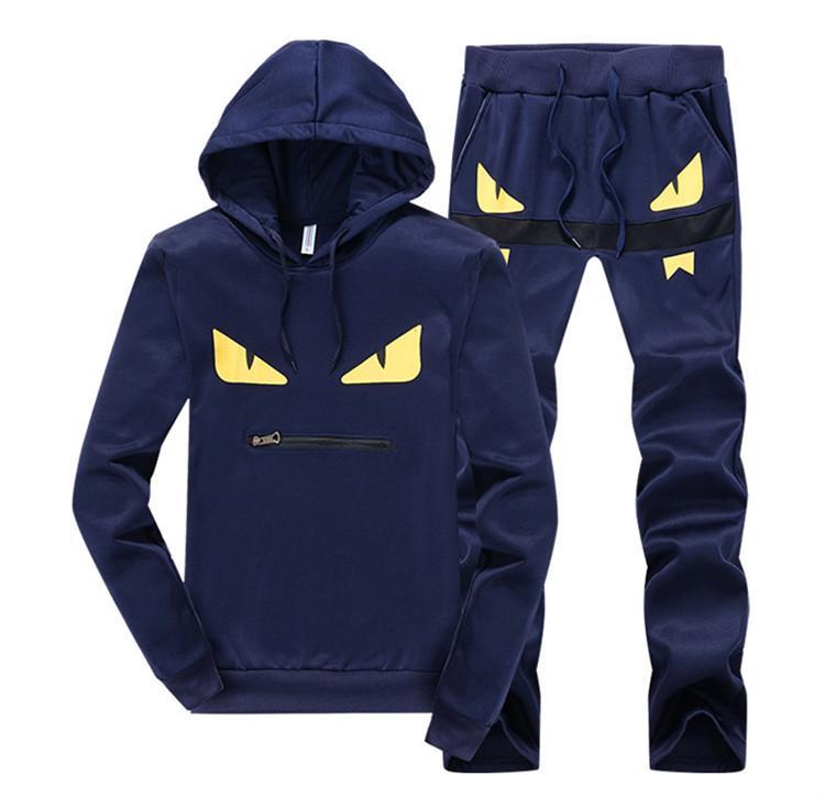 Imposta i rivestimenti Sportswear all'ingrosso Mens cappuccio e felpe del vestito di sudore di marca di abbigliamento maschile tute da jogging con cappuccio G2