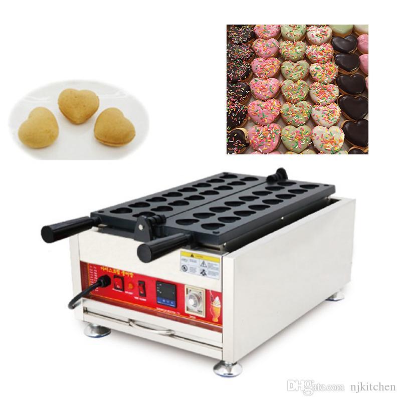 110 v 220 v Elektrikli Hongxin Yumurta Kek Waffle Baker Demir Yapma Pan Ticari Kalp Waffle makinesi Makinesi Pişirme Plakası