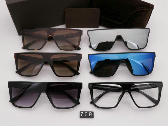 2019 Yeni Moda Güneş Gözlüğü Erkek Kadın Gözlük tom Tasarımcı Kare Güneş Gözlükleri UV400 ford Lensler Eğilim Güneş Gözlüğü TF709 Profesyonel wholesal