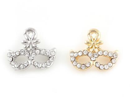 20pcs / lot 13x12mm (oro, plata del color) partido de la flor de la máscara encantos Cuelgue bricolaje colgante ajuste Accesorio para flotar cuelgan Locket Jewelrys