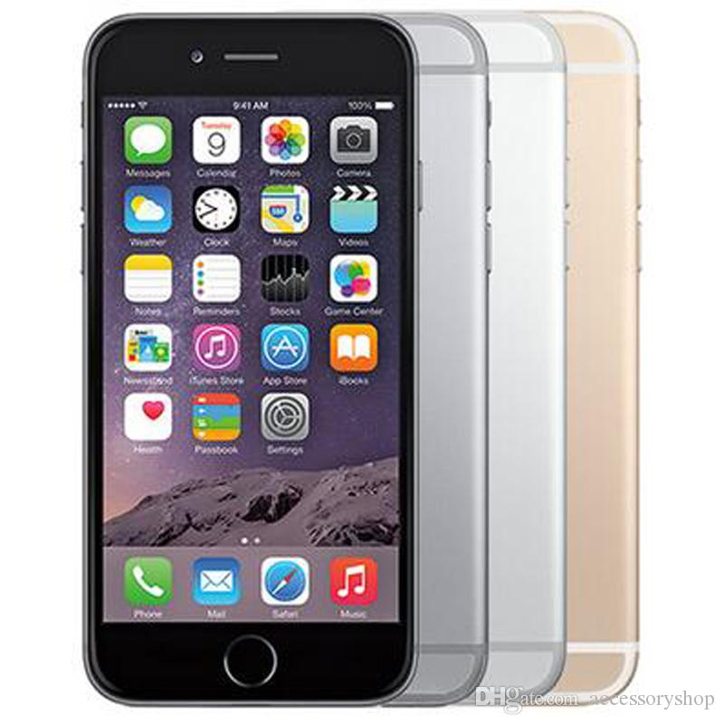 Recuperado Original da Apple iPhone 6 Plus com impressão digital 5.5 polegadas A8 Chipset 1GB RAM 16/64 / 128GB ROM IOS 8.0MP Desbloqueado LTE 4G 1pcs telefone