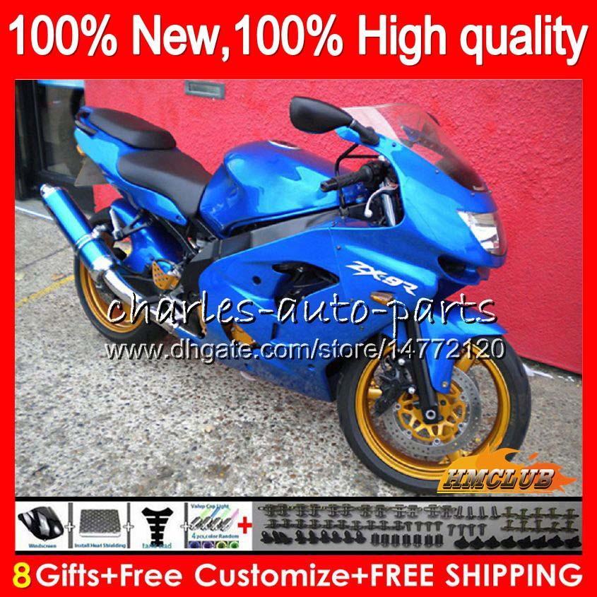 Corpo per Kawasaki ZX900 ZX9 R ZX 9R ZX9R 98 99 00 01 55HC.17 900cc 98-99 ZX 9 R 900 ZX9R 1998 1999 2000 2001 lucida blu ABS carenature kit