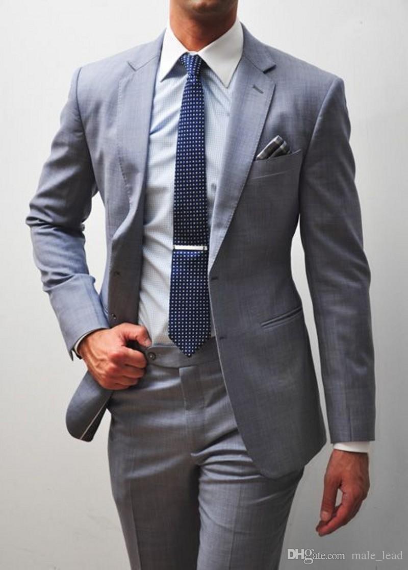 Apuesto padrino de boda Dos botones Novio Esmoquin para hombre Vestido de novia Hombre Chaqueta Blazer Cena de baile Juego de 2 piezas (Chaqueta + Pantalones + Corbata) A203