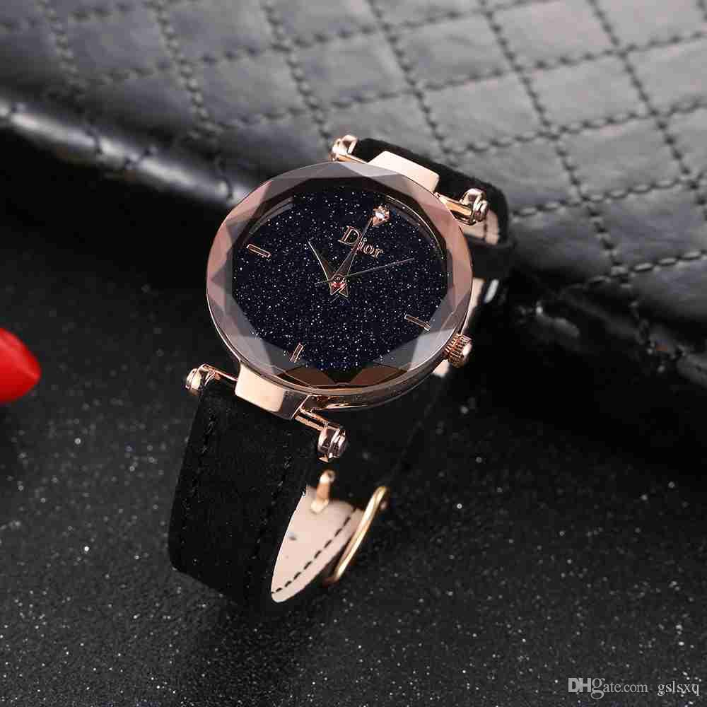 Fashion brand woman watch ladies aristocratic watch with crystal dial fashion style rose gold leather strap ladies watch clocks Montre Femme
