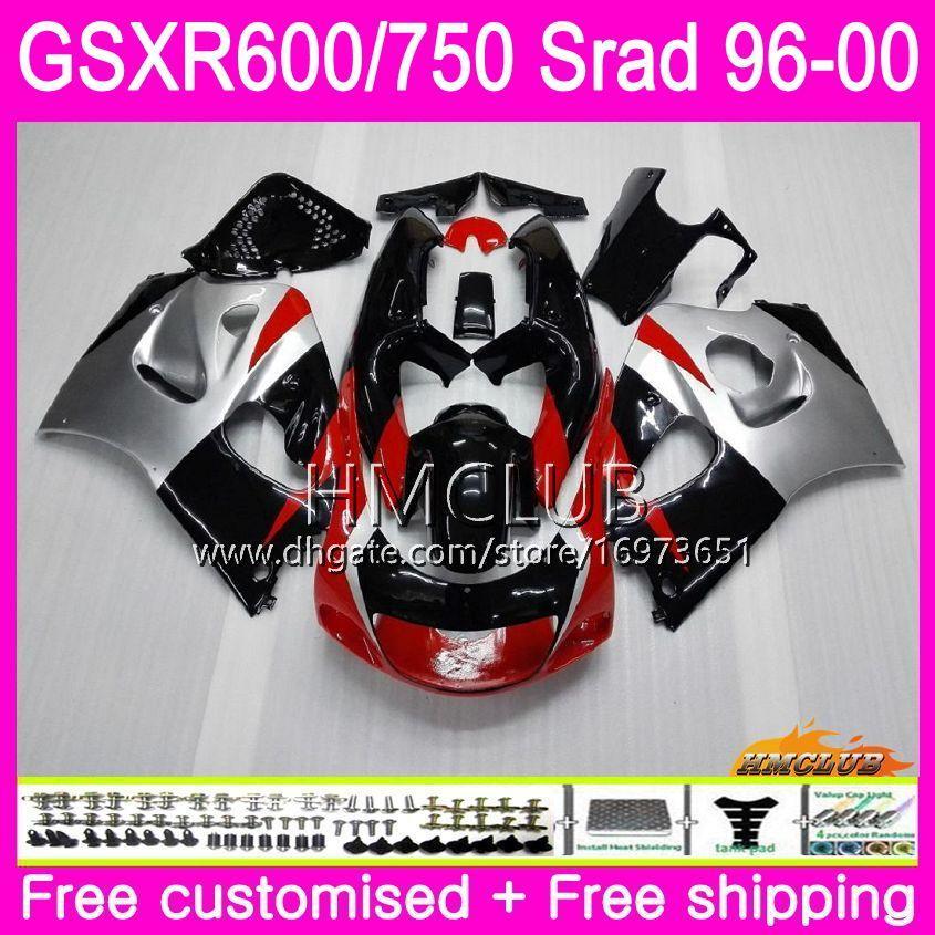 Body For SUZUKI SRAD GSXR 750 600 1996 1997 1998 1999 Red silvery 2000 Kit 1HM.20 GSX-R750 GSXR-600 GSXR750 GSXR600 96 97 98 99 00 Fairing