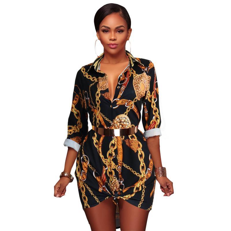 Fashion-Summer Vintage Long Sleeve Mini Dress Women Classic Retro Blouse Party Beach Casual Dresses Black S-XL