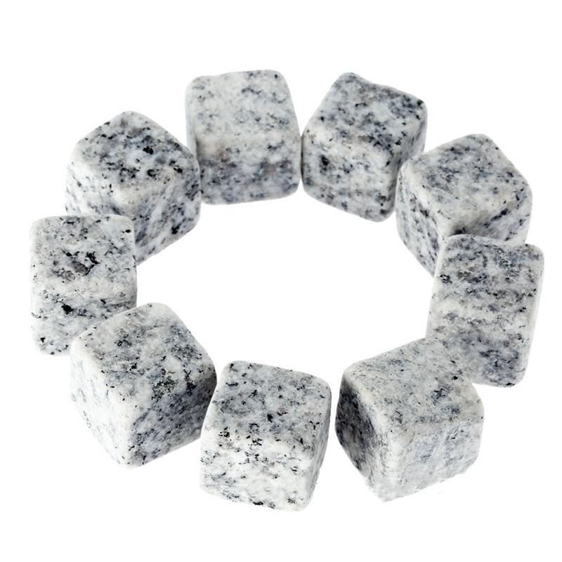Whisky piedra natural 6pcs / set 9pcs / set con regalos bolsa de terciopelo del cubo de hielo de la roca de piedra vino whisky barra de herramientas creativas HHA879