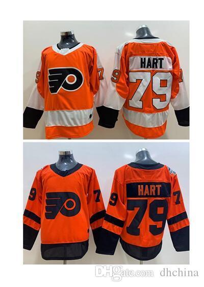 Novos Flyers Hockey Camisas # 79 Hart # 28 Giroux # 19 Patrick Laranja E 2019 Stadium Series Jersey Costurado Tamanho S-XXXL Baseball Futebol