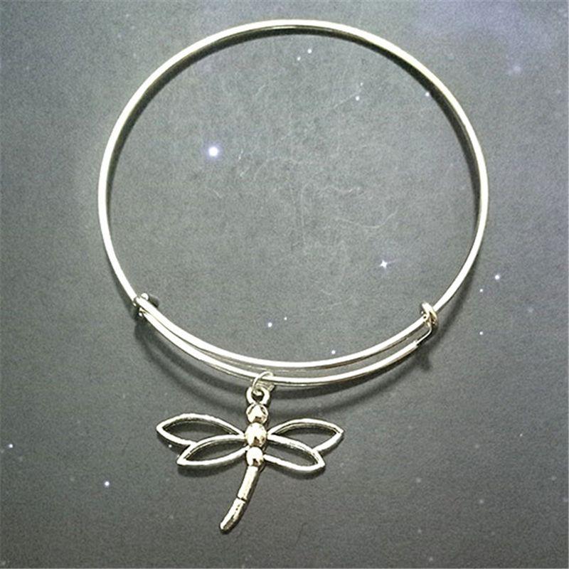 Dragonfly Bangle Insect Charm Bracelet Birthday Present Charm Bracelet Bangle