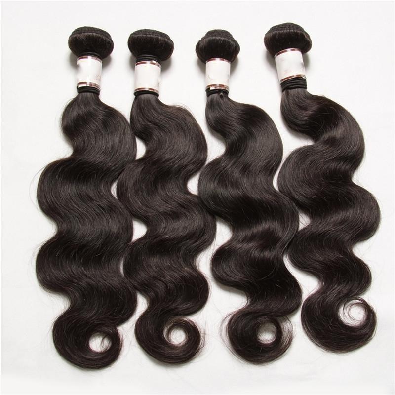 الجملة 5 قطعة / الوحدة البرازيلي بيرو الماليزية الهندي العذراء شعر الجسم موجة رخيصة الإنسان الشعر ملحقات الشعر ينسج لحمة مزدوجة