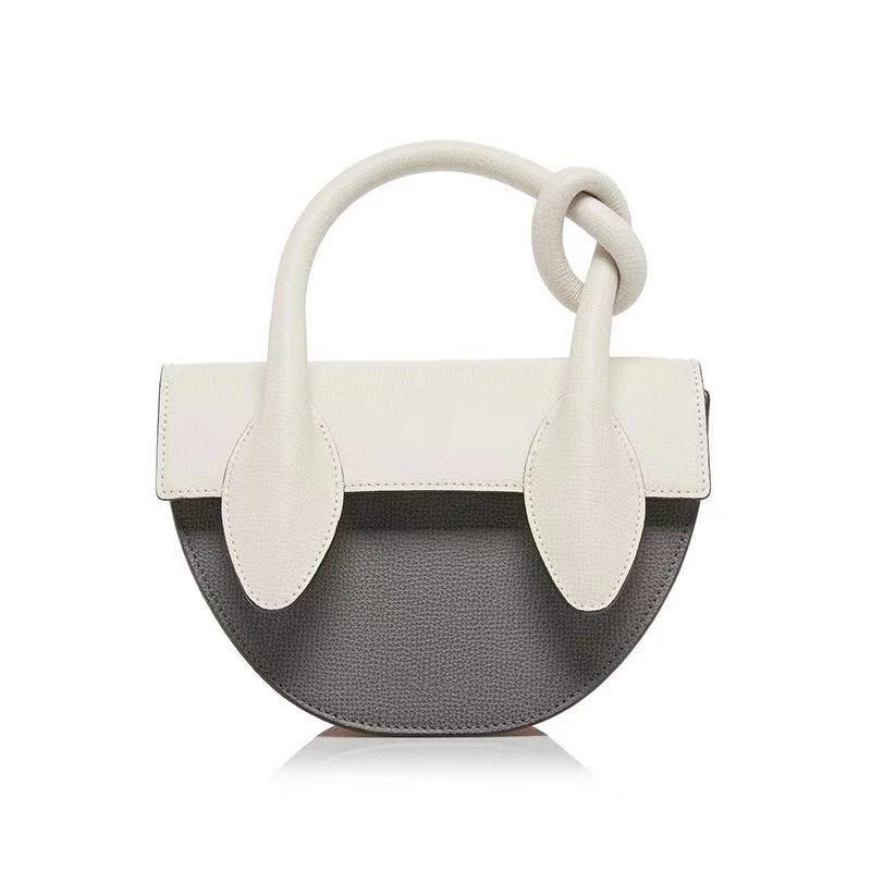 Mode neue prägnante Halbkreis einzelne Persönlichkeit Handtasche weiche Taschen All-Match-Klappe 2019 Halb odhpi Sling Moon Bag Tasche Gnngb