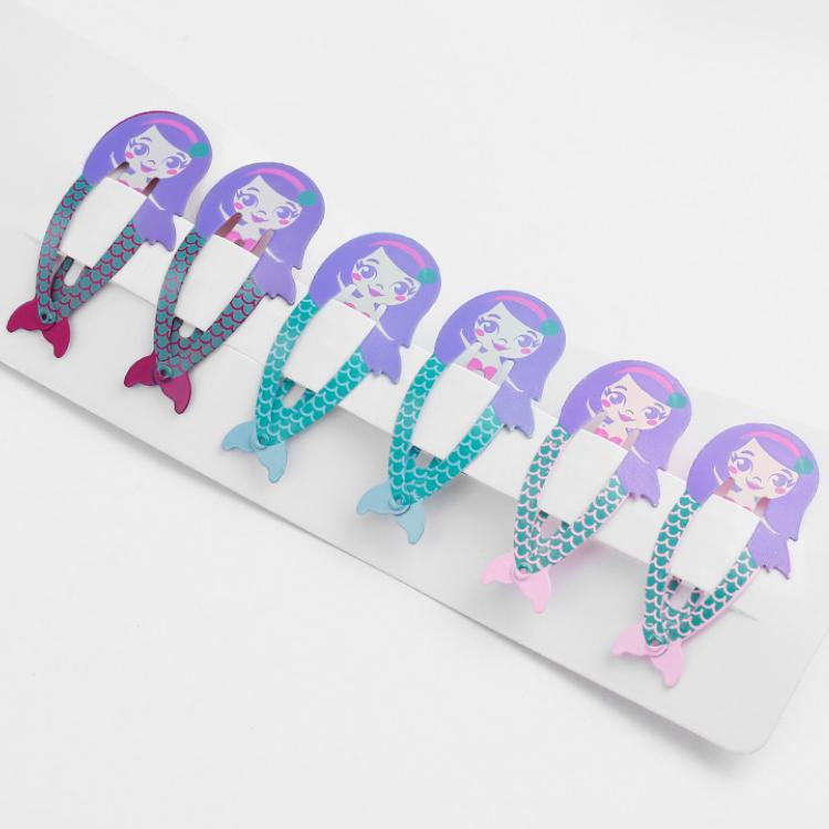 6 Stück / Los Regenbogen-Snap-Haarspangen 9 Art-Haar-Zusätze Karikatur-Frucht Tierhaarnadel Metall Farbe Barrettesauftragswert Großhandel BBJJ360