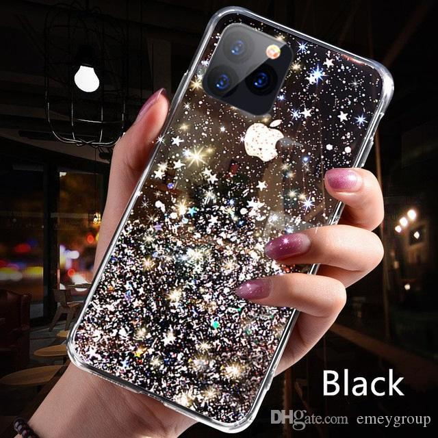 New Luxury design Bling Glitter Case For iPhone 11 Pro X XS Max XR Soft Silicon Cover For iPhone 7 8 6 6S Plus Transparent Cases Capa