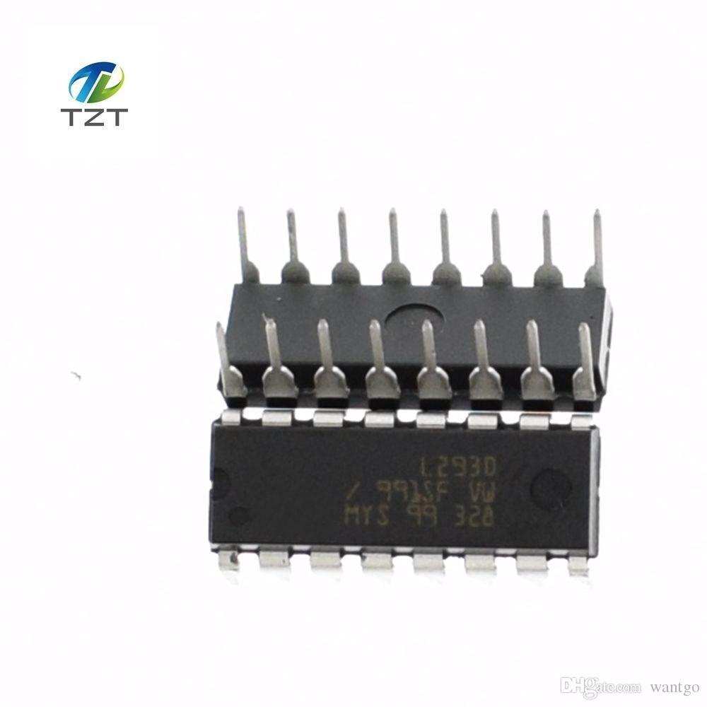 100шт L293D L293 293 DIP-16 шаговый чип драйвера IC 100% Новый бесплатная доставка