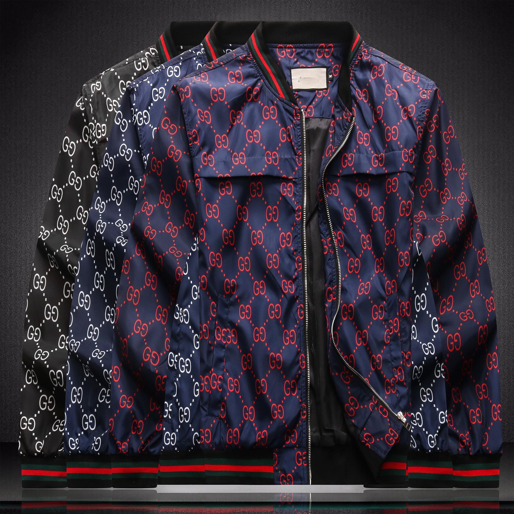 2020ss Design Veste de luxe High Street Medusa Lettre Zipper Imprimer Veste à capuche coupe-vent pour hommes haut Qual Porter