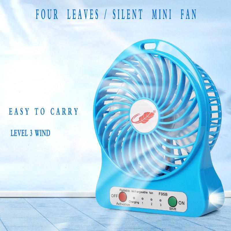 Мини Переносной перезаряжаемый Вентилятор USB зарядка Student Общий уровень охлаждения Вентилятор 3 Ветер зарядки Mini Fan F95B