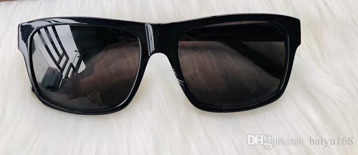 0678 August Shiny Black Gafas de sol polarizadas Gafas Hombres Diseñador de lujo Gafas de sol Desgaste de los ojos uv400 Nuevo con estuche
