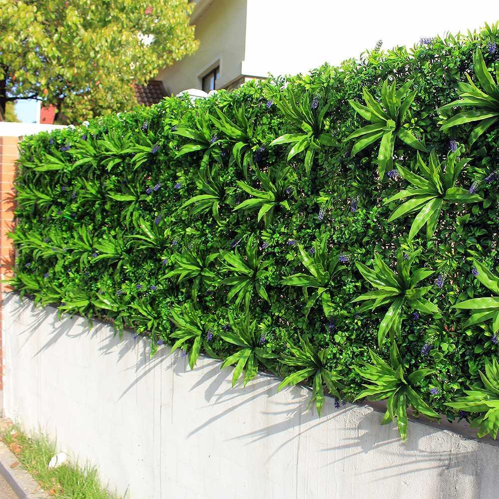 Giardini Verticali Fai Da Te acquista pareti di piante artificiali esterni foglie recinzione 1x1m uv a  parete verticale fai da te giardino ivy pannelli decorazioni cortili da