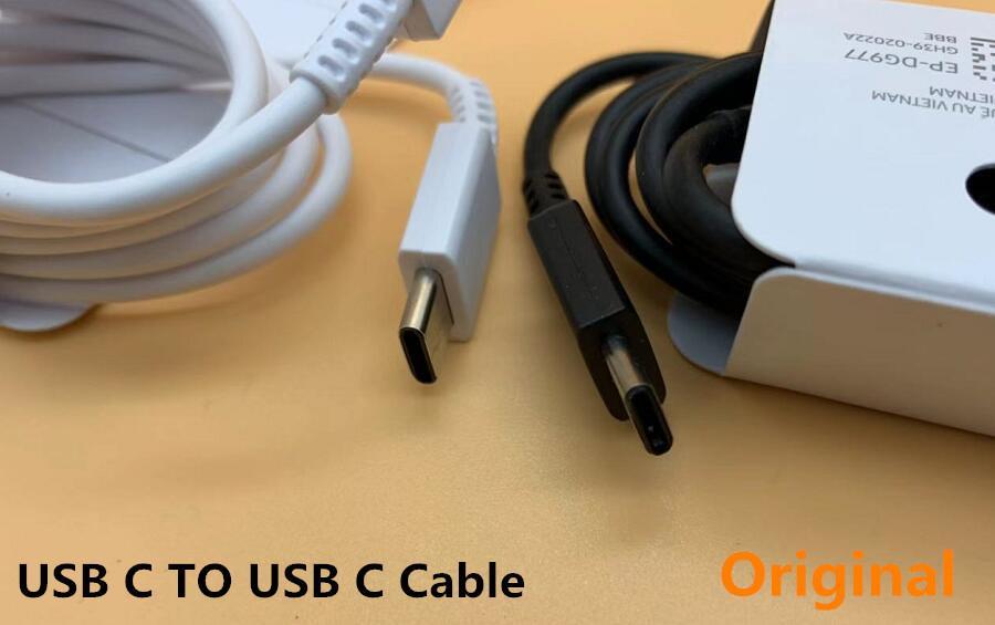 Beyaz / Siyah EP-DG977 C Tipi Tip C Usb İyi Samsung Galaxy Note10 Usb C Kablo İçin Kablolar Şarj