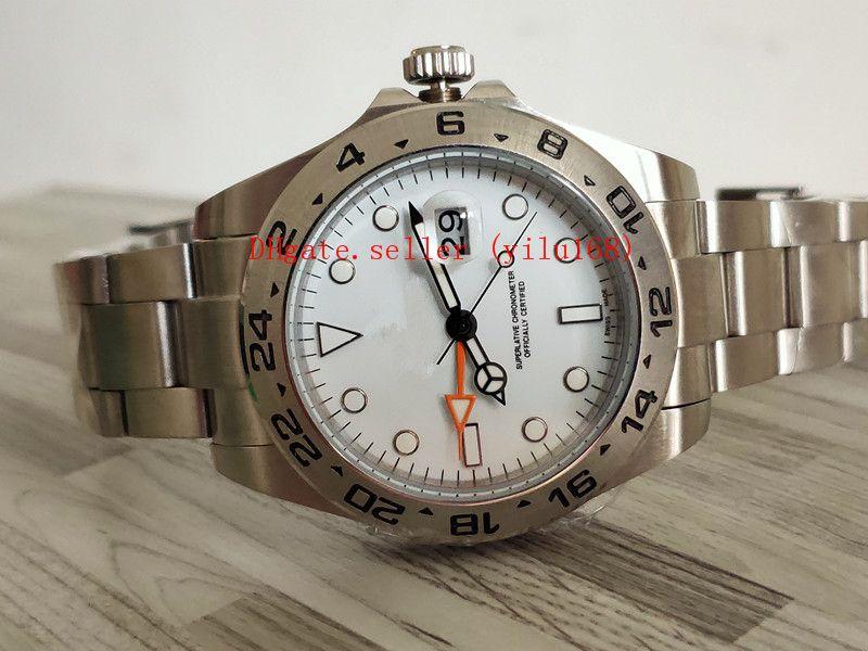 2 цвета мужчины asia_quality_watch часы 42 мм Explorer 216570 Азия 2813 механизм механический браслет из нержавеющей стали автоматические мужские часы