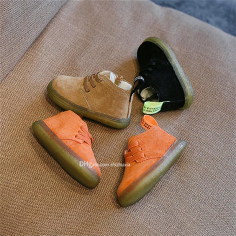 الأطفال الجديد أحذية الدافئة بوي فتاة فاخرة لينة حذاء لون الصلبة أعلى جودة أحذية شحن مجاني